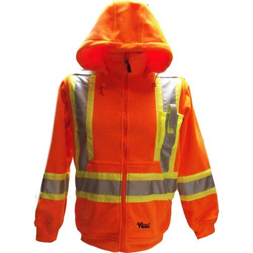 Manteau de sécurité à capuchon (M) de Viking (6420JO-M) - Orange