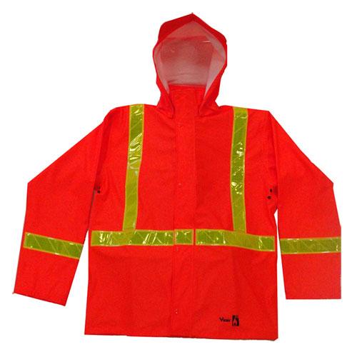 Viking Large Safety Jacket with Hood (6050FRJ-L) - Orange