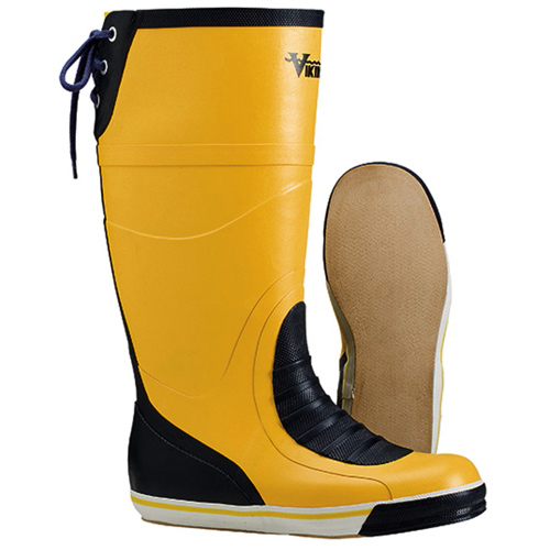 Viking Mariner Size 7 Rubber Boots (VW26-7) - Yellow / Navy Blue