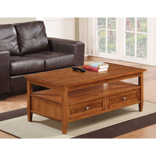 Simpli Home Warm Shaker Coffee Table AXWSH001 Coffee Tables