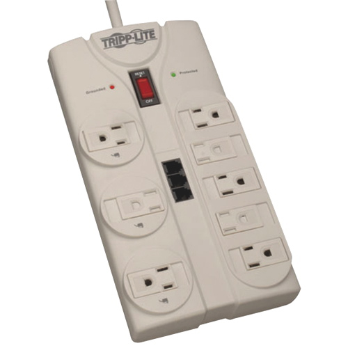 Tripp Lite 8-Outlet Energy Saving Surge Protector (TLP808TEL)