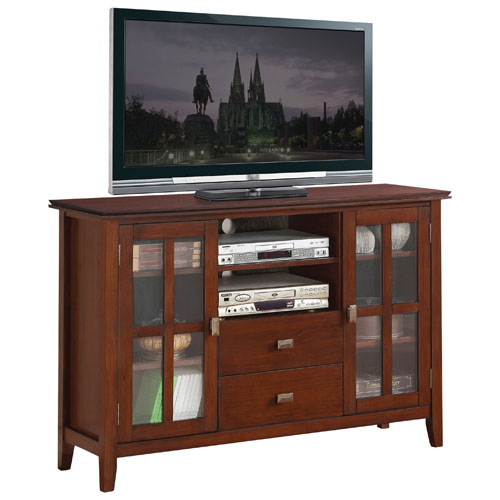 "Simpli Home Artisan 60"" TV Stand - Medium Auburn Brown"
