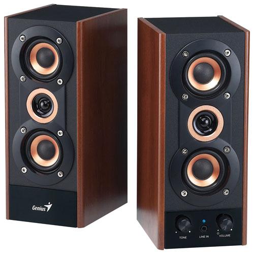 Haut-parleurs à trois voies de 20 watts de Genius (SP-HF800A)