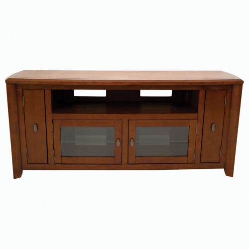 """TechCraft Solid Wood TV Stand for TVs Up To 60"""" (AWC6428) - Brown"""