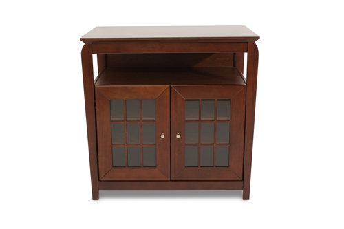 """TechCraft Solid Wood High Credenza TV Stand for TVs Up To 37"""" (BAY3232) - Brown"""