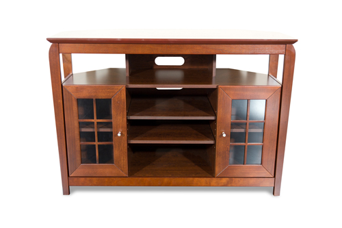 """TechCraft Solid Wood High Credenza TV Stand for TVs Up To 50"""" (BAY4632) - Brown"""