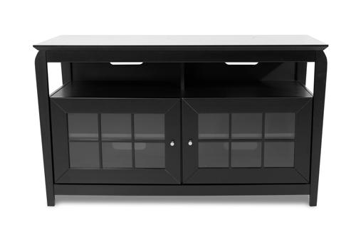 Crédence large en bois massif de TechCraft pour téléviseur de 52 po (BAY4828B) - Noir