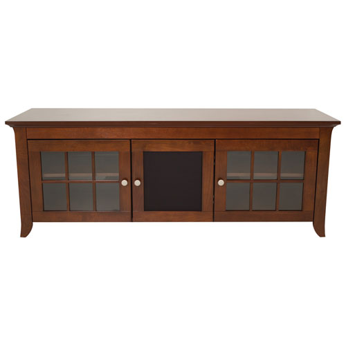 "TechCraft 65"" Solid Wood Credenza TV Stand (CRE60) - Brown"
