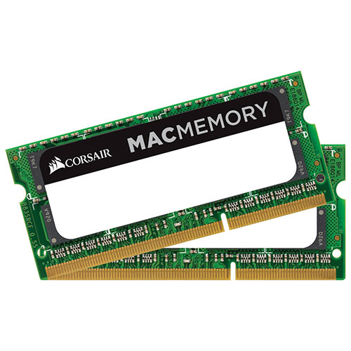 Corsair Mac Memory 8GB (2 x 4GB) DDR3 1066MHz SODIMM Dual Channel Memory Kit (CMSA8GX3M2A1066C7)
