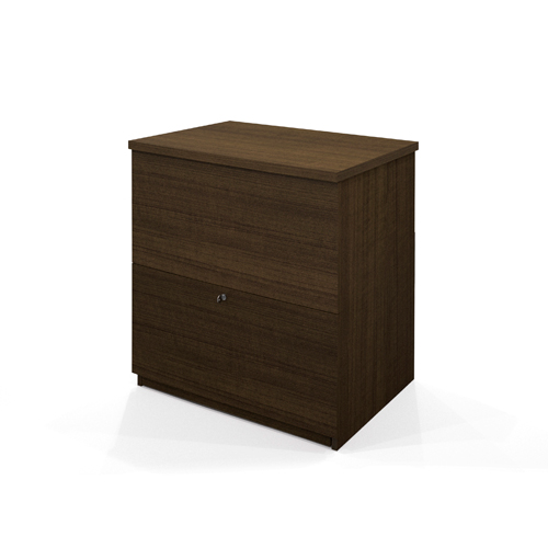 bestar lateral filing cabinet (65635-78) - brown : filing cabinets