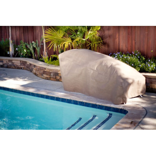 "Duck Covers 74"" Chaise Lounge Patio Cover - Cappuccino Brown"