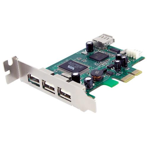 Carte de contrôleur USB PCI-E à faible encombrement à 4 ports de StarTech