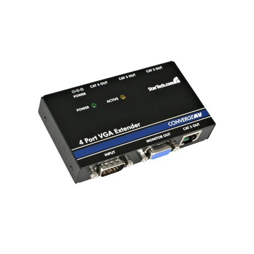 Extendeur vidéo VGA à 4 ports sur Cat5 de StarTech (ST1214T)