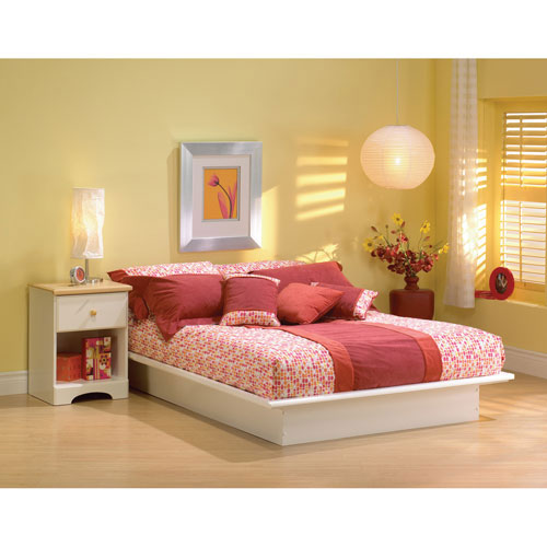 919c767ff19 Step One Contemporary Bed - Double - White   Beds   Bed Frames ...