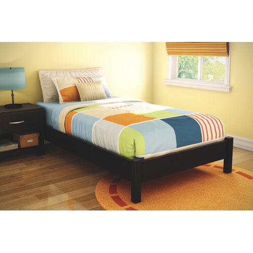 lit jumeau de la collection step one de south shore chocolat lits et cadres de lit best. Black Bedroom Furniture Sets. Home Design Ideas