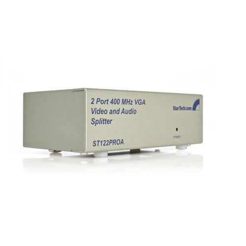 StarTech 2-Port VGA Video Splitter with Audio (ST122PROA)