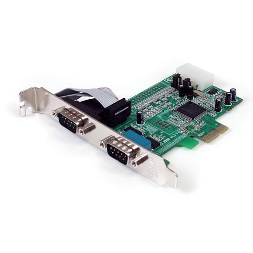 StarTech 2-Port Native PCI-E RS232 Serial Adapter Card
