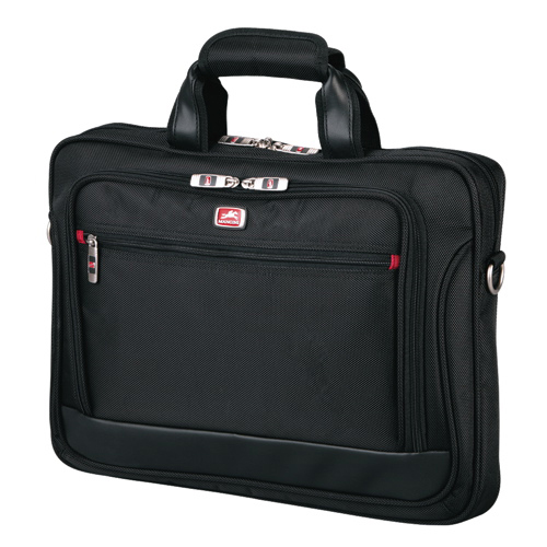 Mancini CompuCase Slim Laptop Briefcase (91854) - Black
