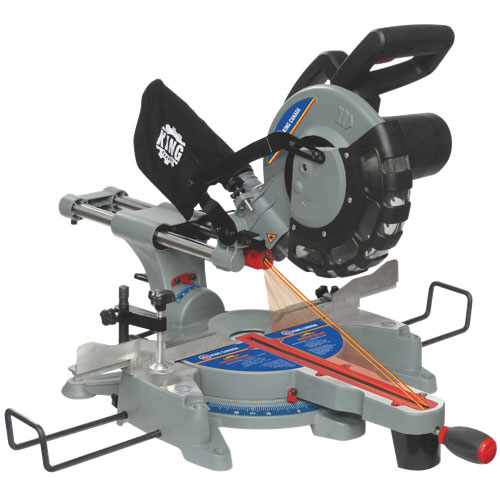 "King Canada 10"" Sliding Compound Miter Saw with Twin Laser"