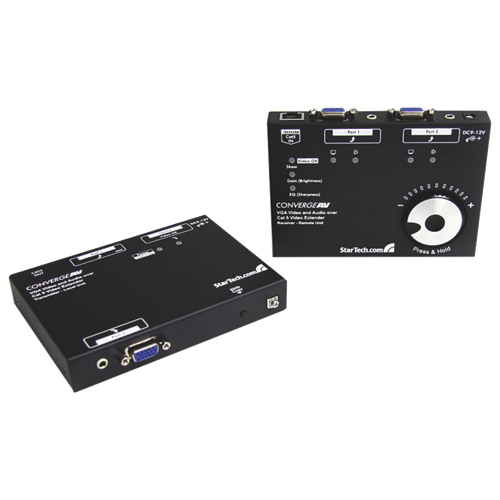 StarTech VGA Video Extender Over Cat 5 with Audio & RGB SKEW Calibration (ST122UTPAL)