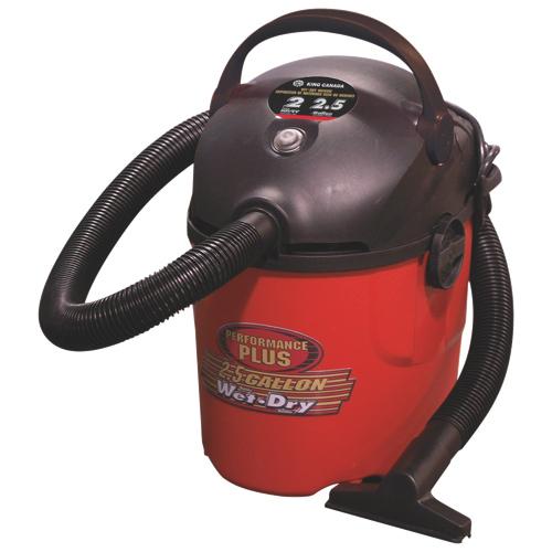 Aspirateur pour déchets secs et humides de 9,5 L Performance Plus de King Canada (8510LP)