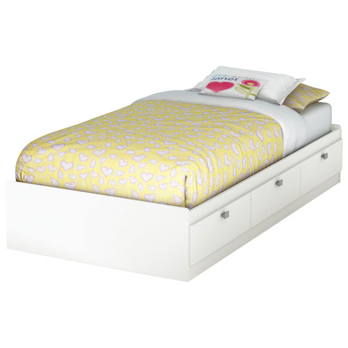 Sparkling Contemporary Storage Bed   Single   White