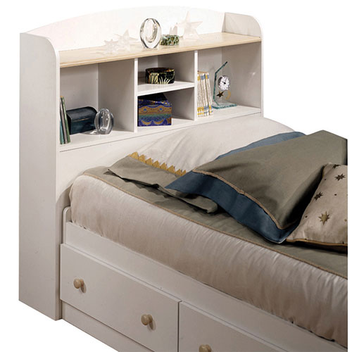 t te de lit avec rangement contemporaine summertime simple blanc rable t tes de lit et. Black Bedroom Furniture Sets. Home Design Ideas