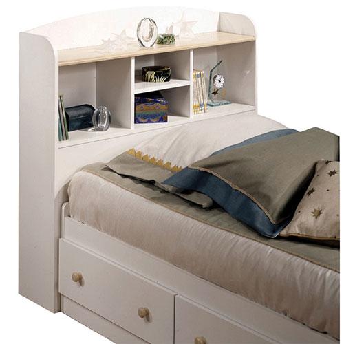 t te de lit avec rangement contemporaine summertime simple blanc rable t tes de lit et. Black Bedroom Furniture Sets. Home Design Ideas