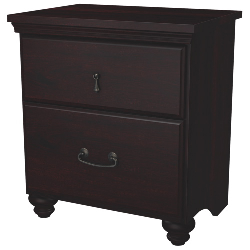 table de chevet transitionnelle 2 tiroirs noble brun acajou tables de chevet best buy canada. Black Bedroom Furniture Sets. Home Design Ideas