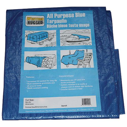 Toile de 10 pi x 20 pi de Western Rugged - Bleu