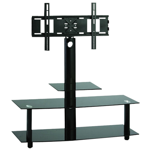 """TygerClaw TV Stand with 23"""" - 50"""" Fixed TV Mount - Black"""
