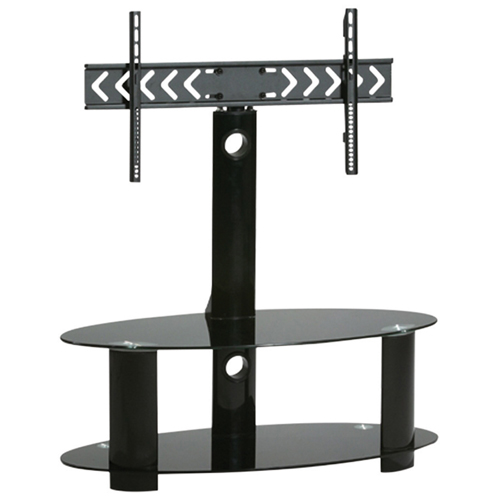 """TygerClaw TV Stand with 32"""" - 50"""" Fixed TV Mount - Black"""