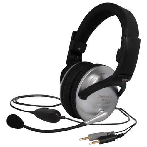 KOSS Communication Headsets (SB49) - Black/ Silver