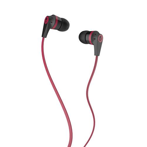 Casque d'écoute intra-auriculaire INK'D avec microphone de Skullcandy (SC S2IKDY-010) - Noir/rouge