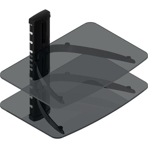 TygerClaw Double Layer Entertainment Shelf - Black