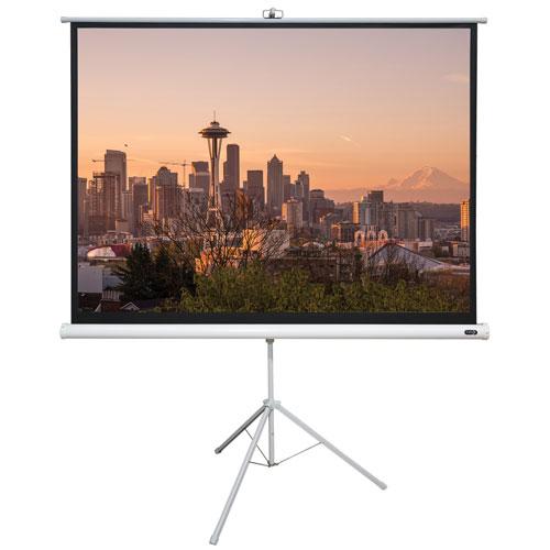 Écran portatif avec trépied 60 x 60 po d'EluneVision (EV-Tr-60*60-1.2-1:1)