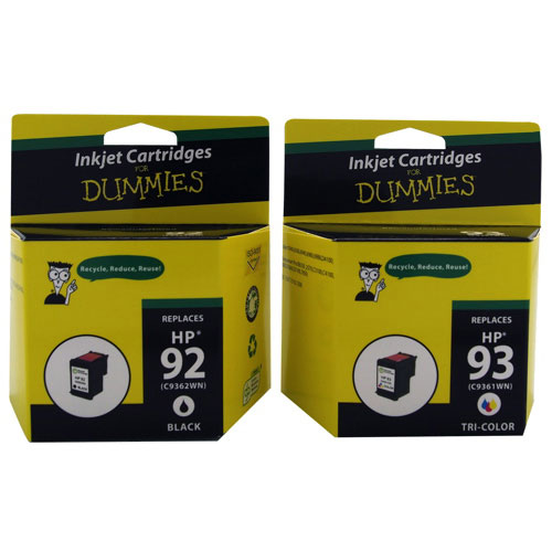 Ink For Dummies HP 92/93 Black/Tri-Colour Ink (DH-92/93) - 2 Pack