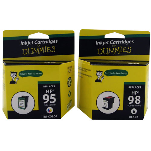 Cartouche d'encre CMJN 95/98 de HP d'Ink For Dummies (DH-95/98) - Paquet de 2