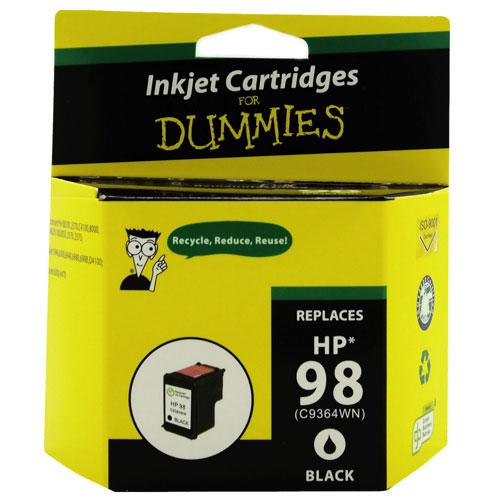 Cartouche d'encre noire 98 de HP d'Ink For Dummies (DH-98)