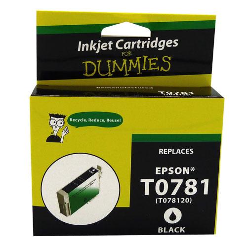 Cartouche d'encre noire T078 d'Epson d'Ink For Dummies (DE-T0781)