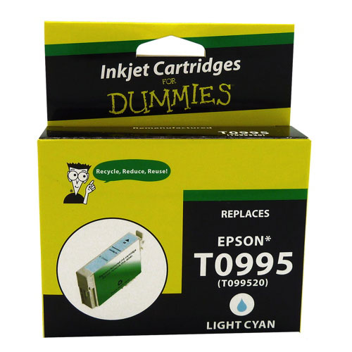 Cartouche d'encre cyan clair T099 d'Epson d'Ink For Dummies (DE-T0995)