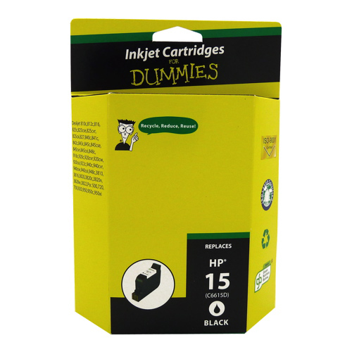 Ink For Dummies HP 15 Black Ink (DH-15)