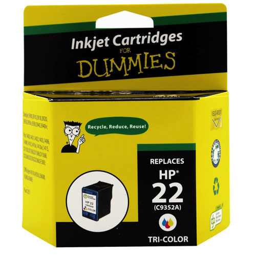 Ink For Dummies HP 22 Tri-Colour Ink (DH-22)