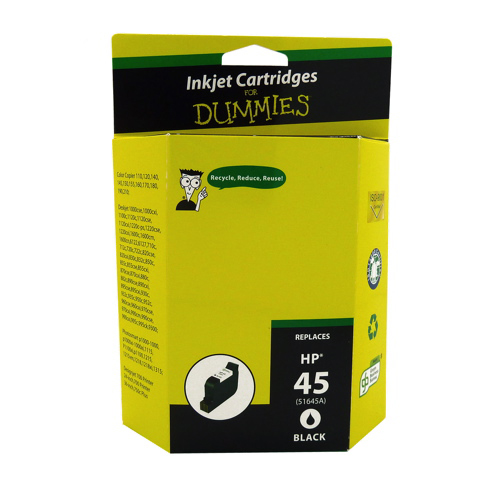 Ink For Dummies HP 45 Black Ink (DH-45)