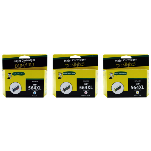 Ink For Dummies HP 564XL CMY Ink Pack (DH-564XL CMY (3PK)) - 3 Pack