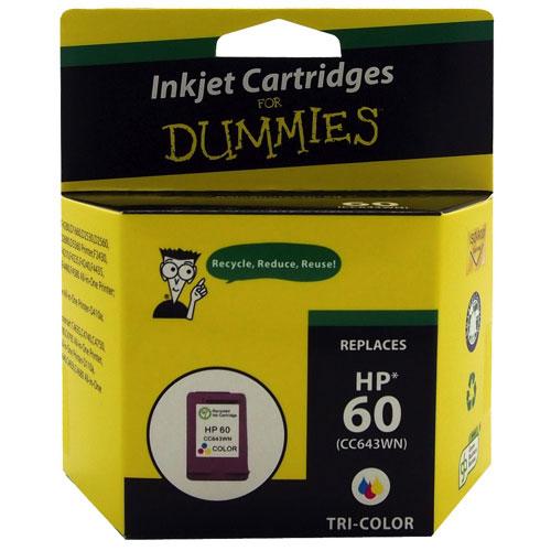 Cartouche d'encre tricolore 60 de HP d'Ink For Dummies (DH-60CL)
