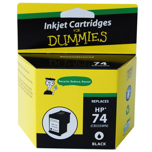 Ink For Dummies HP 74 Black Ink (DH-74BK)
