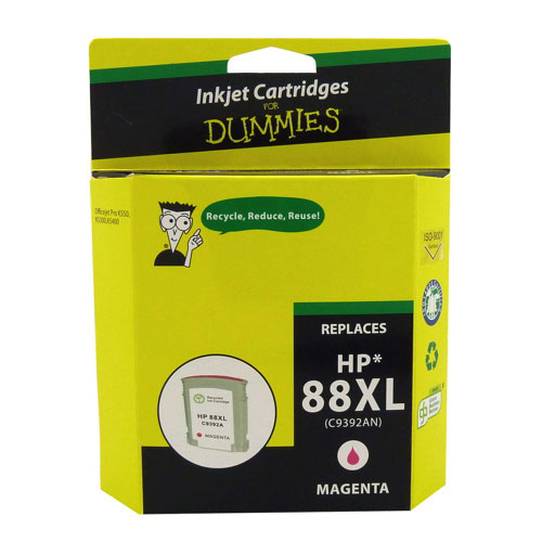 Cartouche d'encre magenta 88XL de HP d'Ink For Dummies (DH-88XLM)