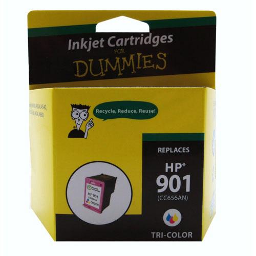 Cartouche d'encre tricolore 901 de HP d'Ink For Dummies (DH-901C)