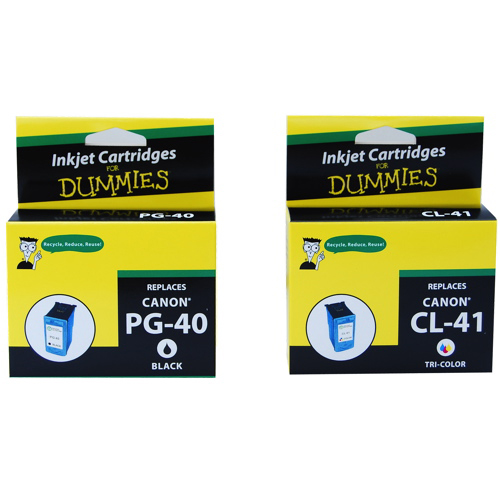 Ink For Dummies Canon CMYK Ink (DC-PG40) - 2 Pack